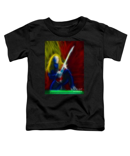 Def Leppard-adrenalize-ga5-vivian-fractal Toddler T-Shirt by Gary Gingrich Galleries
