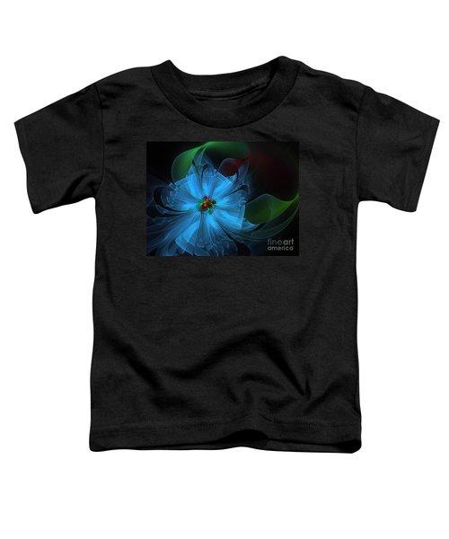 Delicate Blue Flower-fractal Art Toddler T-Shirt