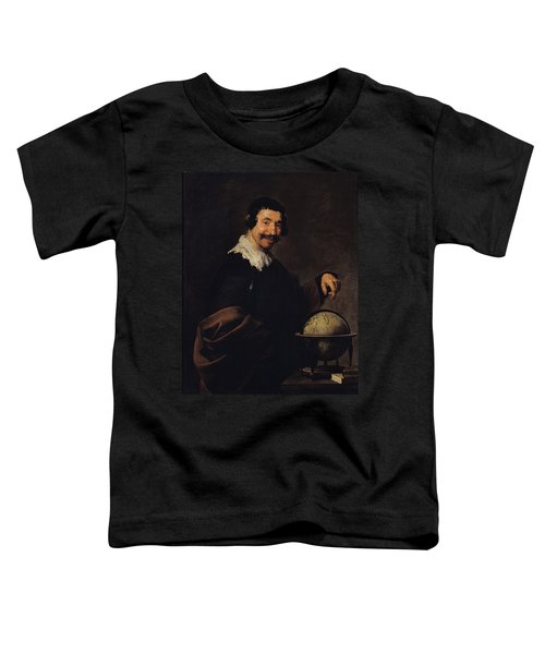 Democritus, Or The Man With A Globe Oil On Canvas Toddler T-Shirt