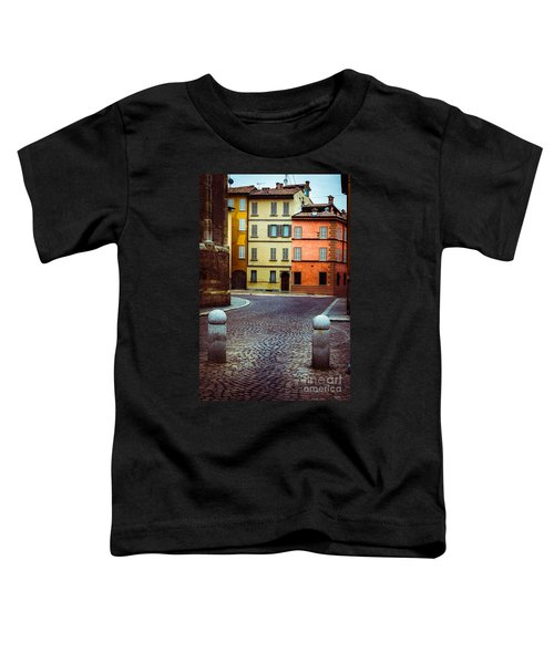 Deserted Street With Colored Houses In Parma Italy Toddler T-Shirt