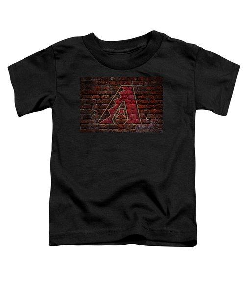 Diamondbacks Baseball Graffiti On Brick  Toddler T-Shirt by Movie Poster Prints