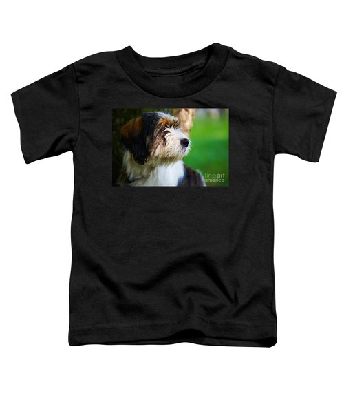 Dog Sitting Next To A Tree Toddler T-Shirt