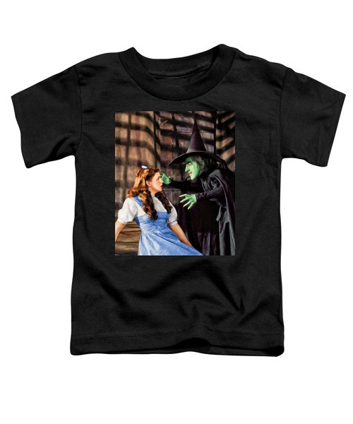 Dorothy And The Wicked Witch Toddler T-Shirt