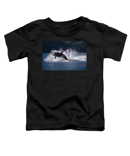 Double Breaching Orcas Bainbridge Toddler T-Shirt