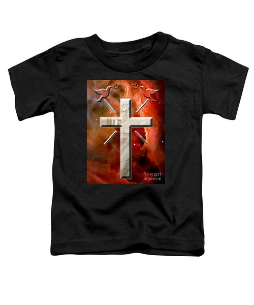 Doves And Stone Cross Toddler T-Shirt