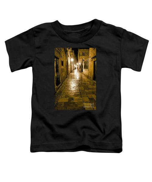 Dubrovnik Streets At Night Toddler T-Shirt