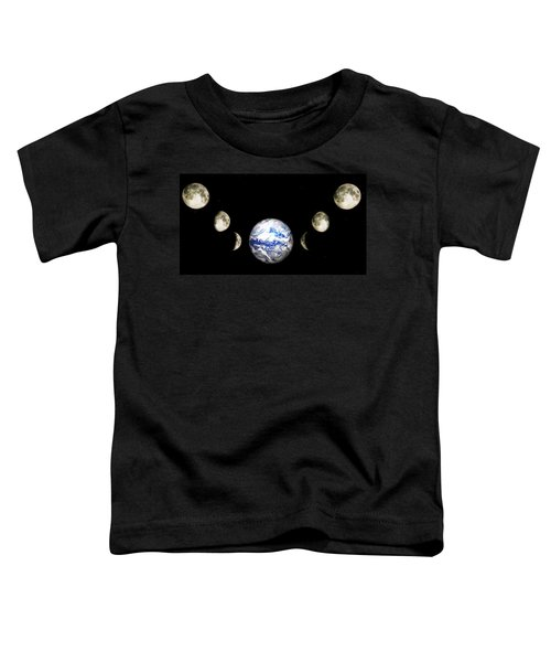 Earth And Phases Of The Moon Toddler T-Shirt