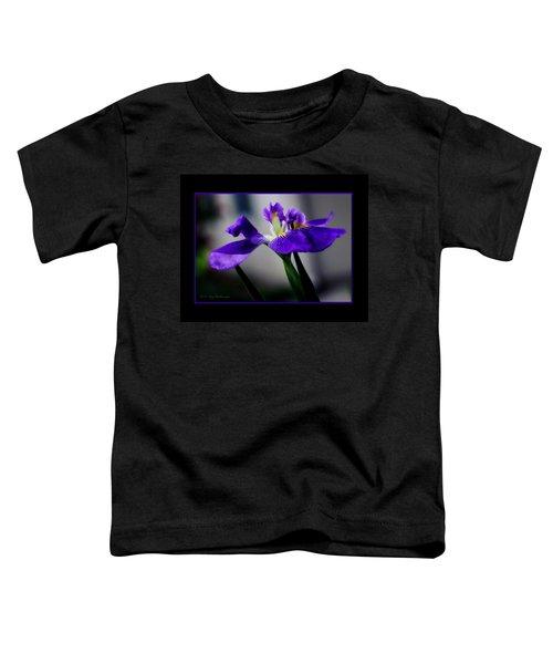 Elegant Iris With Black Border Toddler T-Shirt