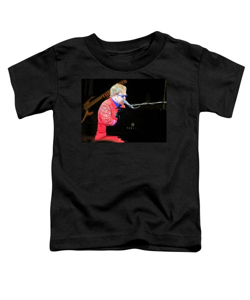 Elton John Live Toddler T-Shirt by Aaron Martens