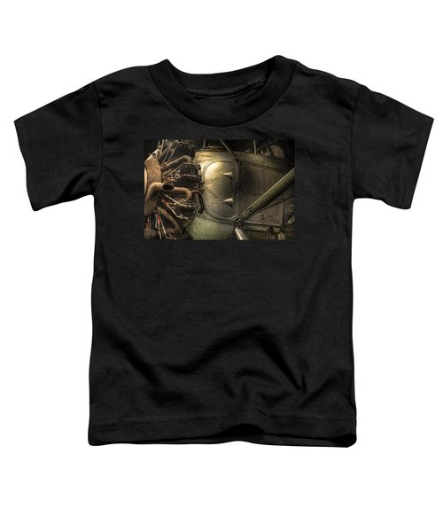 Radial Engine And Fuselage Detail - Radial Engine Aluminum Fuselage Vintage Aircraft Toddler T-Shirt