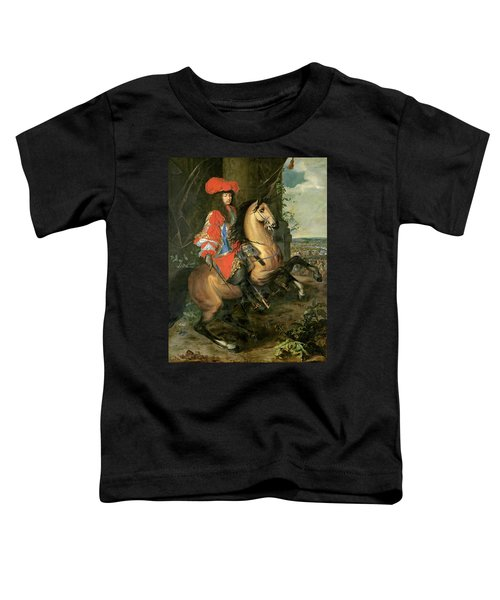 Equestrian Portrait Of Louis Xiv 1638-1715 Oil On Canvas Toddler T-Shirt