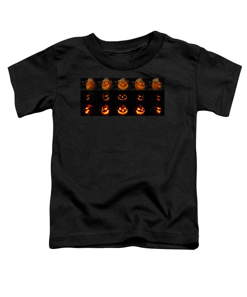 Toddler T-Shirt featuring the sculpture Evil Flippy Pumpkin by Shawn Dall