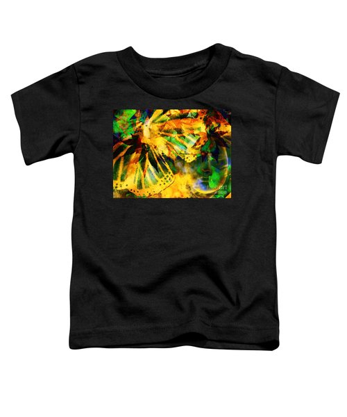 Face In The Rock Conjures Leaves Into Butterfly Toddler T-Shirt