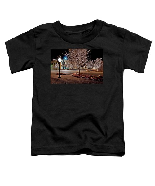 Fairhope Ave With Clock Night Image Toddler T-Shirt