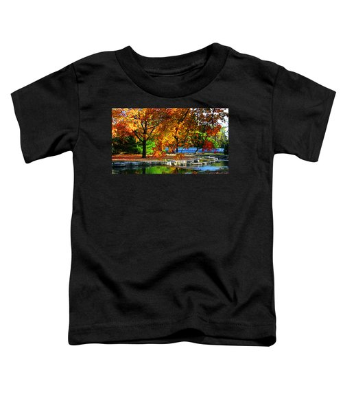 Fall Trees Landscape Stream Toddler T-Shirt