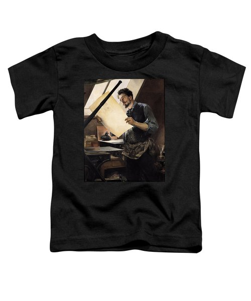 Felicien Rops 1833-98 In His Studio Oil On Canvas Toddler T-Shirt