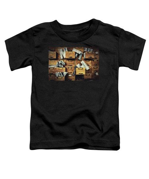 Filing System Toddler T-Shirt
