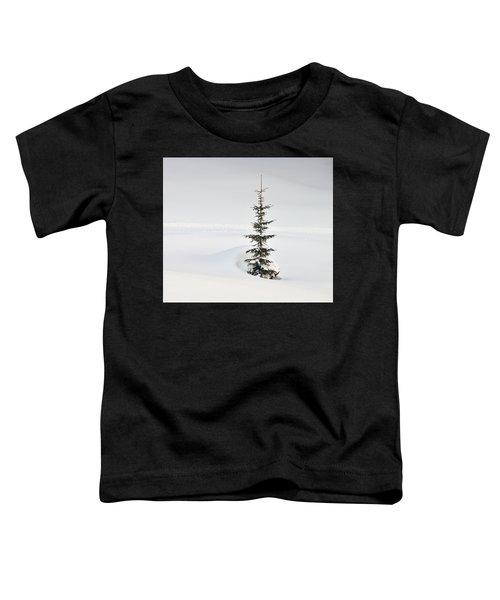 Fir Tree And Lots Of Snow In Winter Kleinwalsertal Austria Toddler T-Shirt