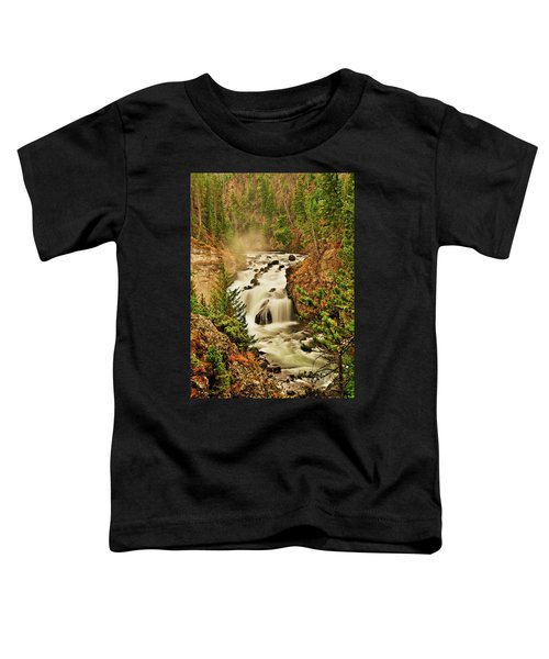 Toddler T-Shirt featuring the photograph Firehole Falls by Greg Norrell