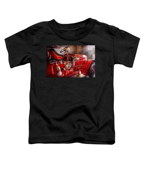 Fireman - Truck - Waiting For A Call Toddler T-Shirt