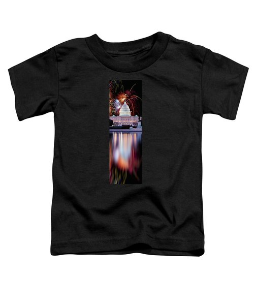 Firework Display Over A Government Toddler T-Shirt by Panoramic Images