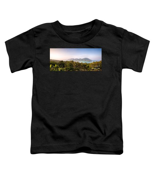 First Light Over Tropical Island Toddler T-Shirt