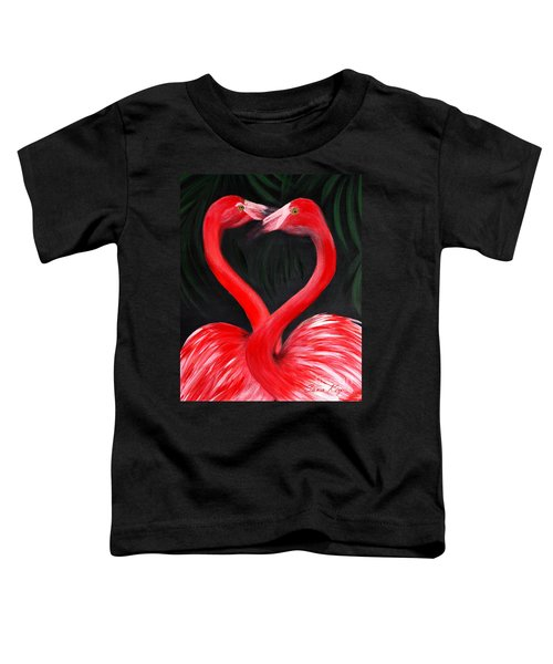 Love  Is... Flamingo Love. Inspirations Collection Toddler T-Shirt