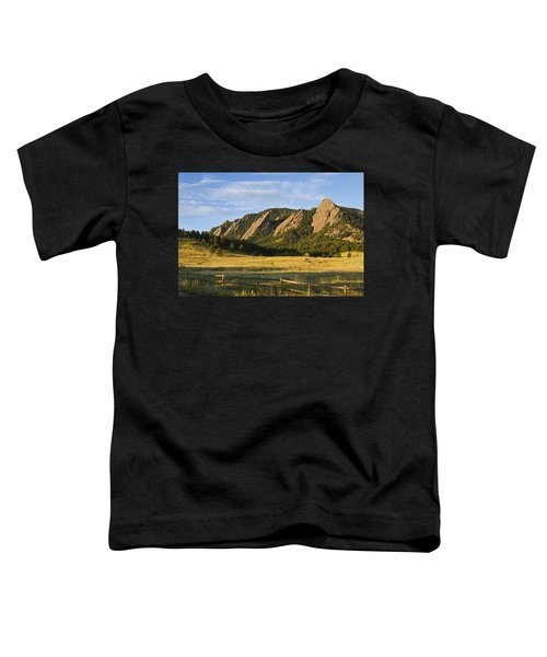 Flatirons From Chautauqua Park Toddler T-Shirt