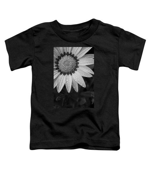 Flower Water Droplets Toddler T-Shirt