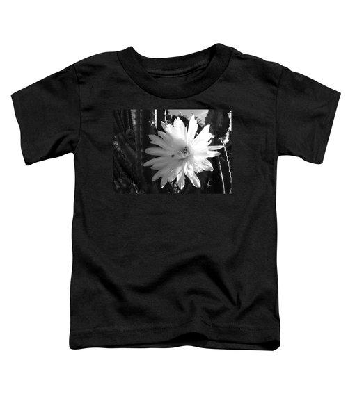 Flowering Cactus 1 Bw Toddler T-Shirt