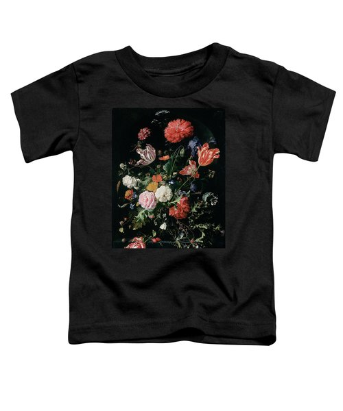 Flowers In A Glass Vase, Circa 1660 Toddler T-Shirt