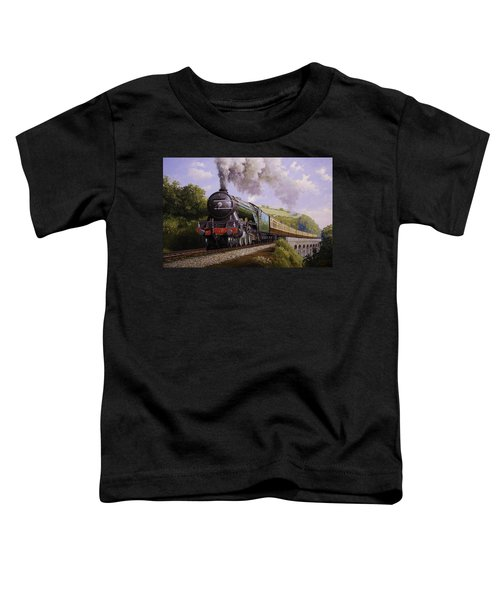 Flying Scotsman On Broadsands Viaduct. Toddler T-Shirt