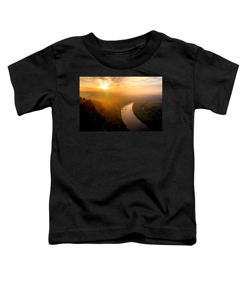 Foggy Sunrise At The Elbe Toddler T-Shirt