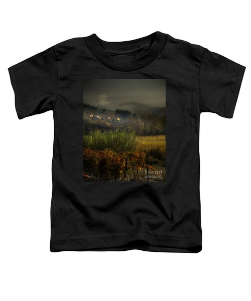 Foggy Tuscan Valley  Toddler T-Shirt