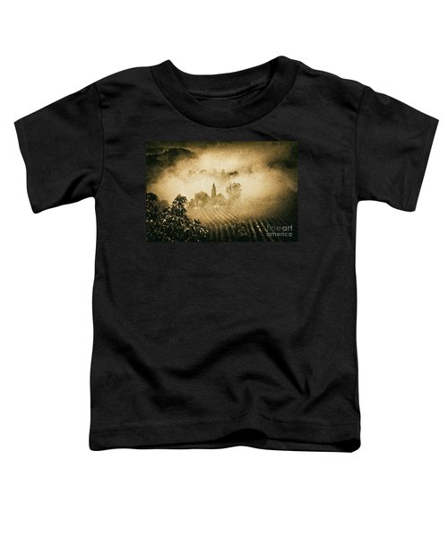 Toddler T-Shirt featuring the photograph Foggy Tuscany by Silvia Ganora