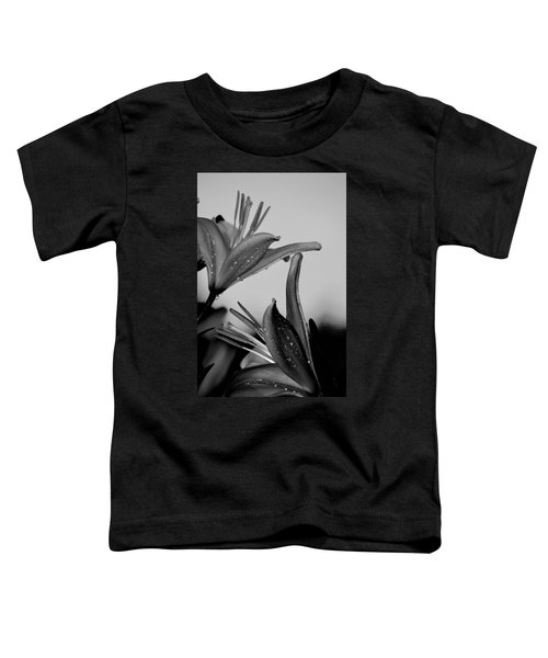 For The Love Of Lillies Bw Toddler T-Shirt