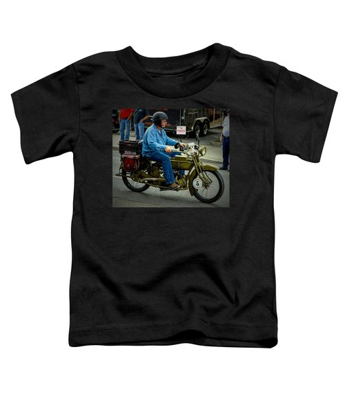 Four Cylinder Henderson Motorcycle Toddler T-Shirt