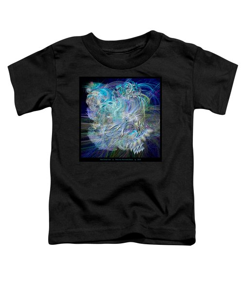 Fractal Feathers Blue Toddler T-Shirt