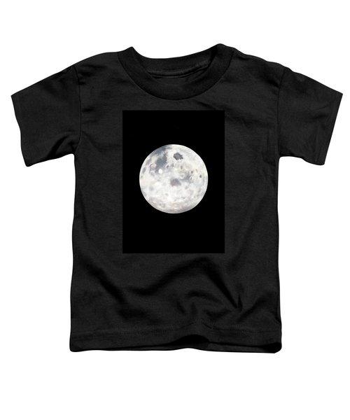 Full Moon In Black Night Toddler T-Shirt