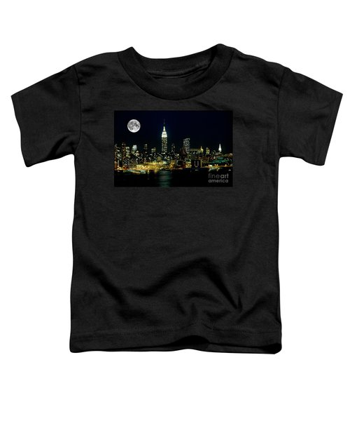Full Moon Rising - New York City Toddler T-Shirt