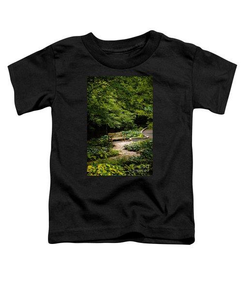 Garden Bench Toddler T-Shirt by Joe Mamer