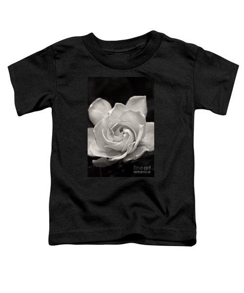 Gardenia Bloom In Sepia Toddler T-Shirt