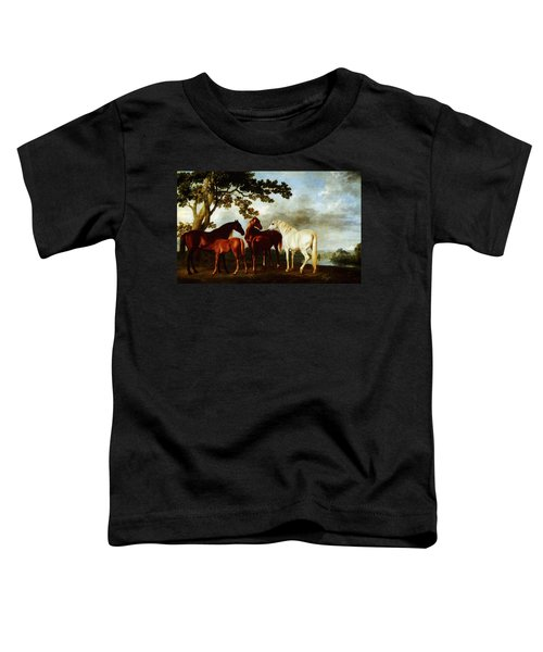 Toddler T-Shirt featuring the painting Horses by George Stubbs