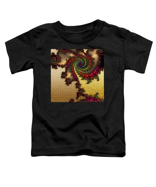 Gilded Fractal 10  Toddler T-Shirt