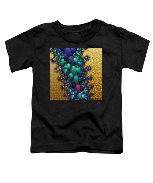 Gilded Fractal 4  Toddler T-Shirt