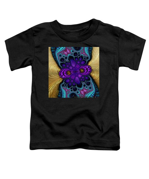 Gilded Fractal 8  Toddler T-Shirt