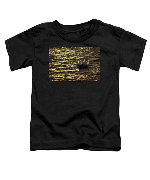Toddler T-Shirt featuring the photograph Golden Ocean by Miroslava Jurcik