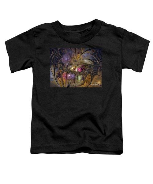 Golden Ornamentations-fractal Design Toddler T-Shirt