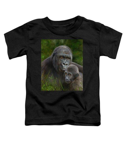 Gorilla And Baby Toddler T-Shirt