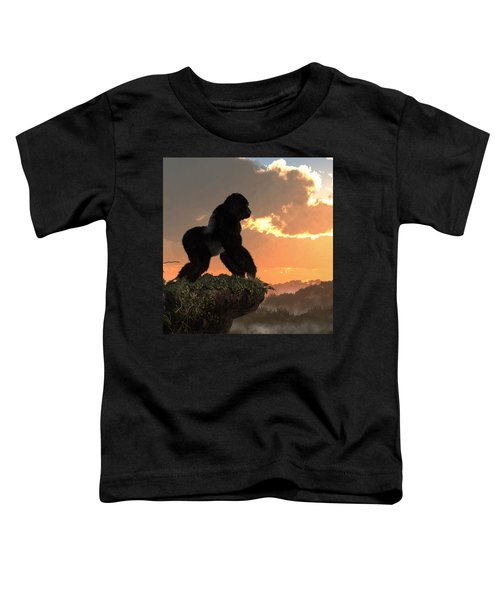 Gorilla Sunset Toddler T-Shirt